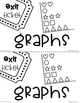 Exit Tickets Graphing for Second Grade by Reagan Tunstall