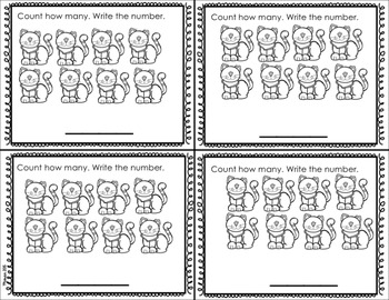 Numbers 1-10: Kindergarten Exit Tickets/ Quick Checks by