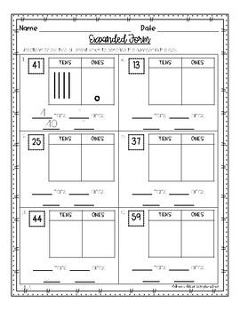 Expanded Form- Differentiated Worksheets by The Multi