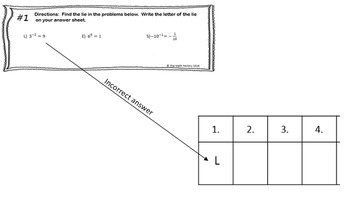 Exponent Properties Task Cards Two Truths and a Lie by The