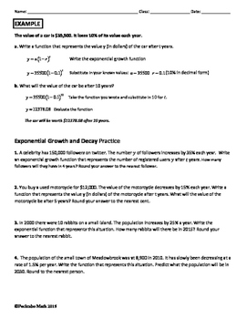 Exponential Growth And Decay Worksheet Answer Key Algebra 2 : exponential, growth, decay, worksheet, answer, algebra, Exponential, Growth, Decay, ALGEBRA, Review, Practice, Pecktabo