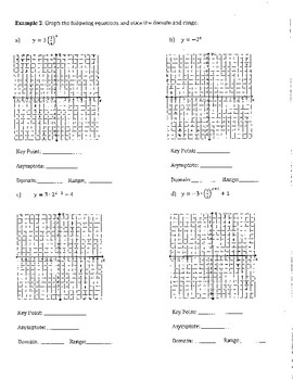 Exponential & Logarithmic Functions Notes by Erica Idstein