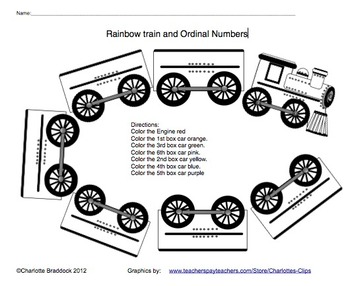 Train Clip art: Engine, Cars, Engineer and Conductor by