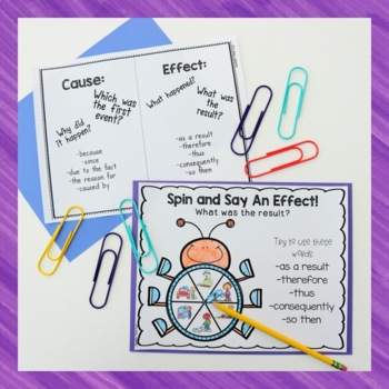 Expressing Cause and Effect Activities and Worksheets by