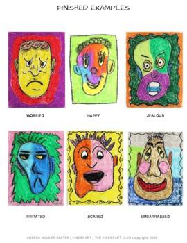 Les émotions Dans L Art : émotions, Extreme, Emotions, Lesson, KinderArt