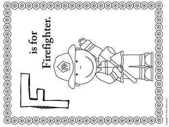F is for Firefighter and Fire Safety: {Math Literacy and