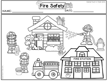 FIRE SAFETY Language Development Lessons for Young