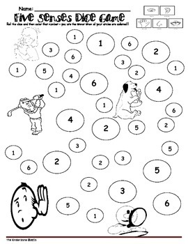 FIVE SENSES MATH GRAPHING ACTIVITIES SET by The Kinder
