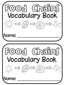 FOOD CHAINS Poster Set / Student Vocabulary Book by Sheila