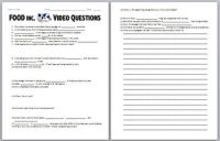 FOOD Inc. Video Worksheet by Biology Zoology Forensic ...