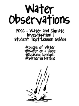 FOSS/AMSTI 3rd grade Water and Climate Study Guides by