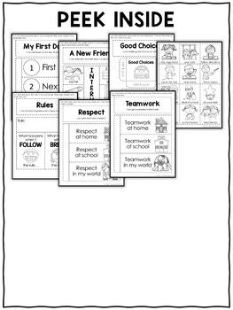 Back to School Interactive Notebook Activities by Nicole