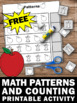 FREE Kindergarten Math Counting Worksheet, Apple Theme by