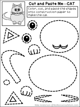 FREE Cut & Paste Activities For Preschool and Early