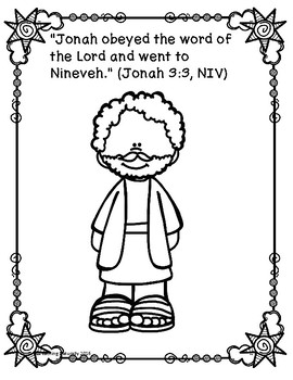 Jonah and the Whale Bible Lesson (1st-4th grade) by