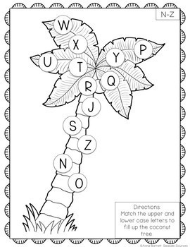 FREE Chicka Chicka Boom Boom Letter Match Activity by Anna