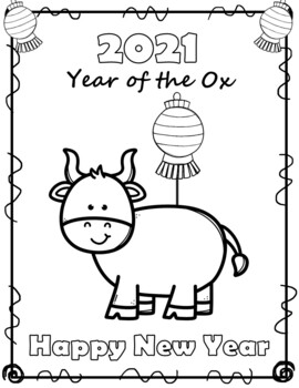 FREE Chinese New Year 2020 Coloring Sheets by The Love of