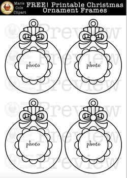 FREE! Christmas Ornament Frame Printables [Marie Cole