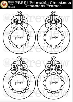 FREE! Christmas Ornament Frame Printables [Marie Cole