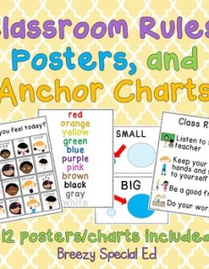 Original  also free classroom rules posters and anchor charts for special rh teacherspayteachers
