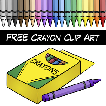 free crayon clip art digital