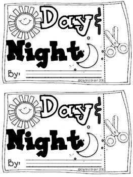 FREE Day & Night Flip Flap Book {Objects in the Sky} by