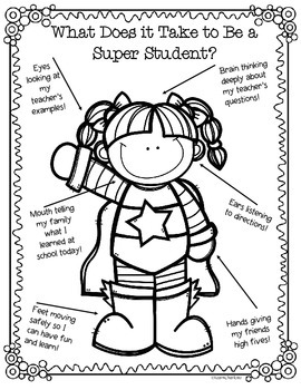 FREE Design a Super Student Positive Behavior Posters by