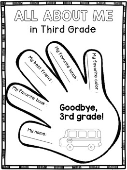 End of the Year Activities for Third Grade: Memory Book by