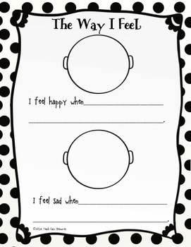 FREE Feelings Worksheet and Mini-Book for Pre-K to 1 by