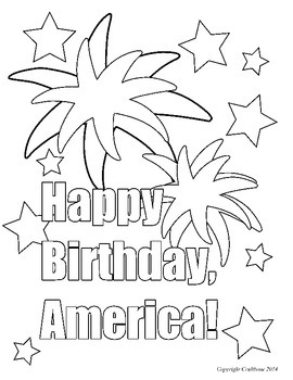 FREE Fourth of July Color Sheet! Follow Me to get a free