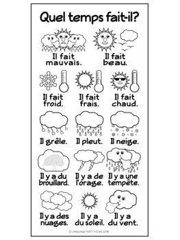 FREE French Weather Poster or Handout by Language Party