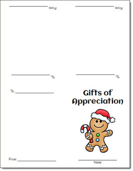 FREE Gifts of Appreciation Holiday Cards by Laura Candler