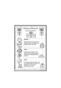 FREE Guess the present (A making inferences activity) by
