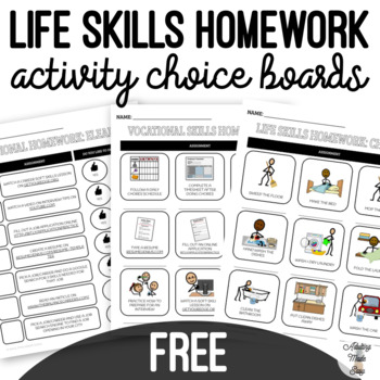 FREE Life Skills Homework Activities by Adulting Made Easy