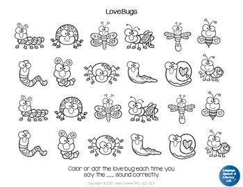 FREE Valentine's Day Love Bugs Concepts & Articulation