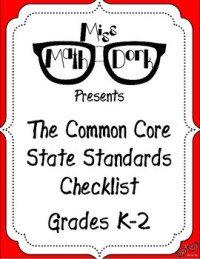 FREE: MATH Common Core State Standards K-2 Checklist by ...