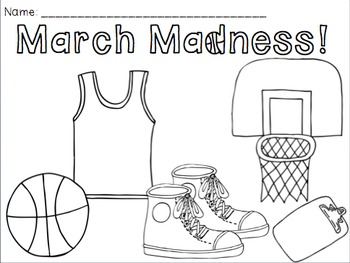 FREE March Madness Coloring Pages by Kady Did Doodles by