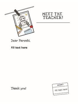 FREE Meet the Student Teacher/Teacher Letter to Parents by
