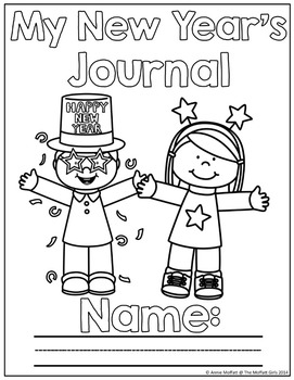 FREE New Year NO PREP Journal Prompts for Beginning