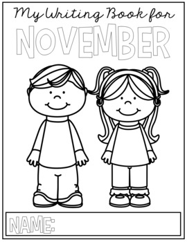 FREE November Writing Prompts for Kindergarten to Second