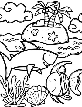 FREE Ocean Animals Coloring Book {Made by Creative Clips