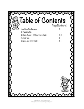 Opinion Writing Basic Rubric CCSS Aligned for Grades 3rd