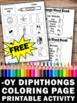 FREE Diphthong Worksheet, oy Vowel Team by Promoting