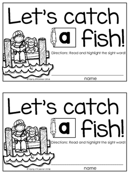 FREE! Sight Word Book Sample {preschool, prek