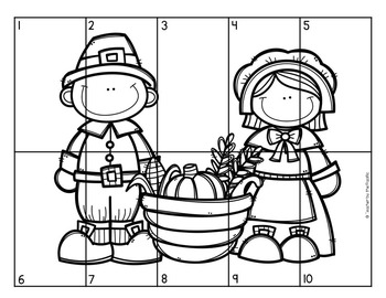 FREE THANKSGIVING Math Number Puzzles 1