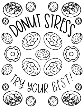 FREE Testing Encouragement Coloring Pages by Hipster Art