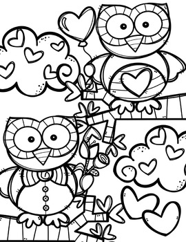 FREE Valentine Coloring Pages {Made by Creative Clips