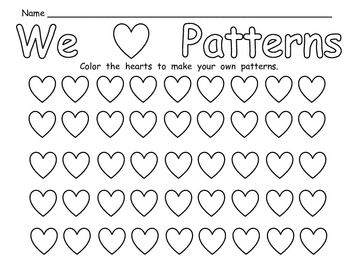 FREE Valentine's Day Patterns Practice Page for