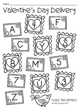 FREE! Valentine's Day Pocket Chart Alphabet Recogniton