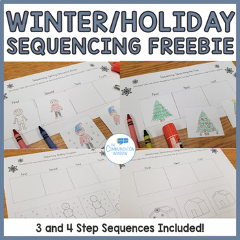 Free Winter Sequencing Cut And Glue Worksheets By